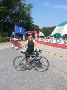 After completing my first triathlon at Callaway Gardens, time 1:03:12